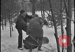 Image of Ford Executive Harry Bennett and friends frolic in snow Tawas Michigan USA, 1924, second 10 stock footage video 65675078270